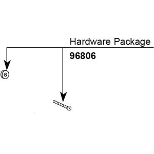 Moen hardware kit, 1 handle tub/shower knob