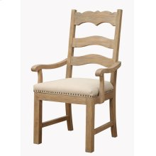 Ladderback Host Chair Uph Seat Rta