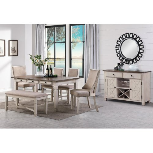 Prairie Point Counter Backless Bench