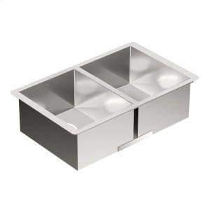 "1800 Series 29""x18"" stainless steel 18 gauge double bowl sink Product Image"