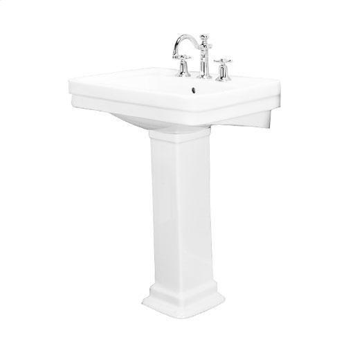 "Sussex 660 Pedestal Lavatory - 8"" Widespread / White"