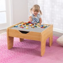 Activity Table with Board - Gray & Natural