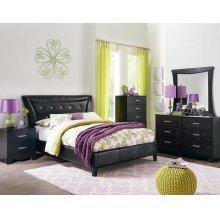 Standard Furniture 50790 Vogue Black Vinyl Bedroom set Houston Texas USA Aztec Furniture