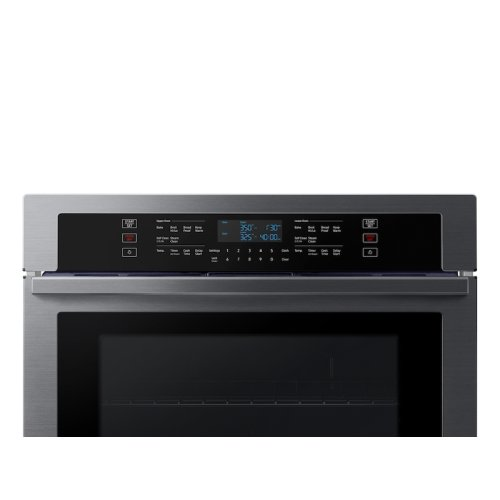 """30"""" Double Wall Oven in Black Stainless Steel"""