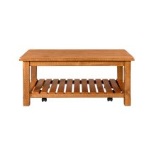 Barn Door Collection Coffee Table, Honey Tobacco