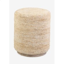 Surfside round ottoman/ table - natural (16x16x19)