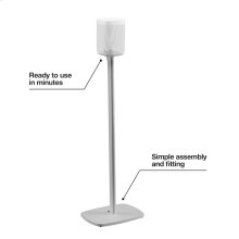 White- Secure floor stand.