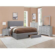 F9365EK / Cat.19.p115- KING BED GREY MW F4936/7/8/9