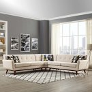 Engage L-Shaped Sectional Sofa in Beige Product Image