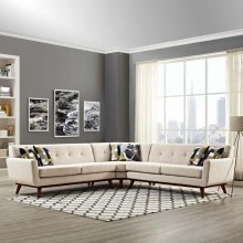 Engage L-Shaped Sectional Sofa in Beige