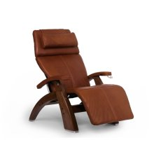 Perfect Chair PC-420 Classic Manual Plus - Cognac Premium Leather - Walnut