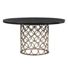Valentina Brass Round Dining Table