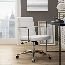 Cavalier Mid Back Office Chair in White
