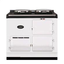 White 2-Oven AGA Cooker (gas) Cast-iron range cooker