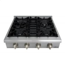 30 Inch Professional Gas Rangetop In Stainless Steel