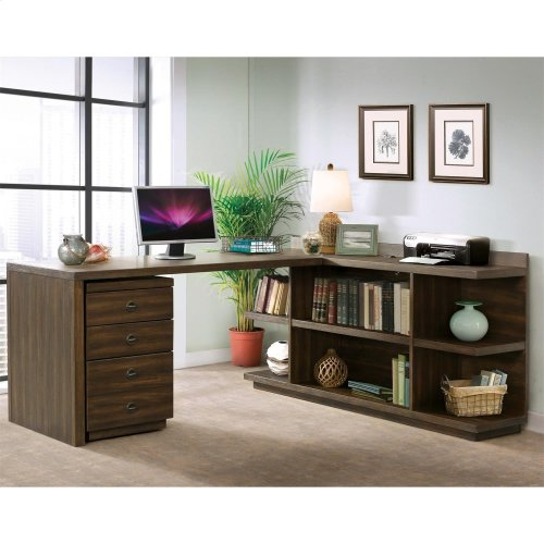 Perspectives - Peninsula Bookcase - Brushed Acacia Finish