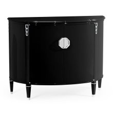 Demilune Smoky Black Storage Cabinet