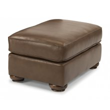 Preston Leather Cocktail Ottoman