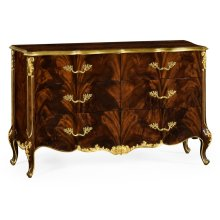 6 Drawer Double Dresser in Brown Mahogany