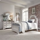 Full Upholstered Bed, Dresser & Mirror Product Image