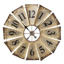 Vintage Fan Wall Clock