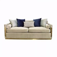 Divani Casa Tenaya Modern Beige Fabric & Gold Sofa