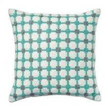Starboard Pillow, AQUA, 22X22