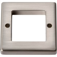 Tableau Square Base 1 7/16 Inch - Brushed Nickel