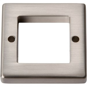 Tableau Square Base 1 7/16 Inch - Brushed Nickel Product Image