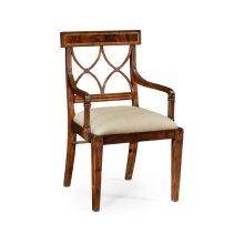Regency mahogany curved back chair (Arm)