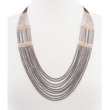 BTQ Mixed Metal Long Draped Necklace