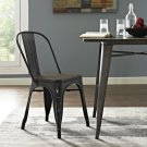 Promenade Bamboo Side Chair in Black Product Image