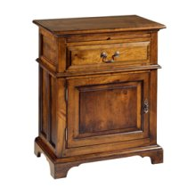 Nightstand with One Drawer and One Door