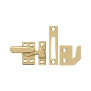 Window Lock, Casement Fastener, Small - Brushed Brass Product Image
