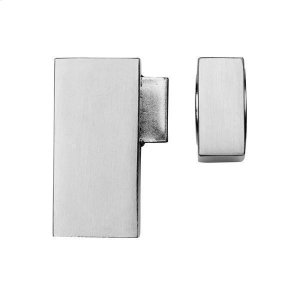 Quad magnetic door stop floor mounted, Polished Chrome Product Image