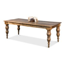 """Old Teak """"Shipped Rigged"""" Dining Table"""