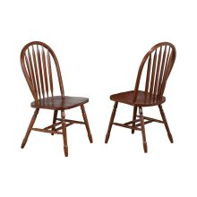 DLU-820-CT-2  Andrews Arrowback Dining Chair  Distressed Chestnut