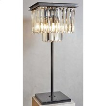 Square Crystal Table Lamp