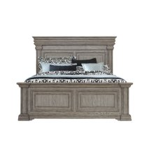 Madison Ridge Queen Panel Footboard and Slats in Heritage Taupe
