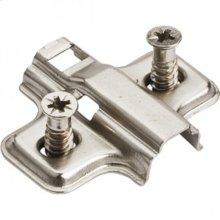 Standard Duty 0 mm Non-Cam Adjustable Steel Plate with Euro Screws for 500 Series European Hinges