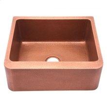 "Avena Single Bowl Copper Farmer Sink - 25"""