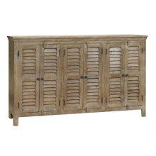 Bengal Manor Mango Wood Grey 6 Door Sideboard