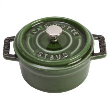Staub Cast Iron 4-inch round Mini Cocotte, Basil