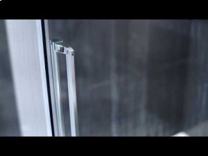 """60"""" x 80"""" sliding shower doors with clear glass - Chrome Product Image"""