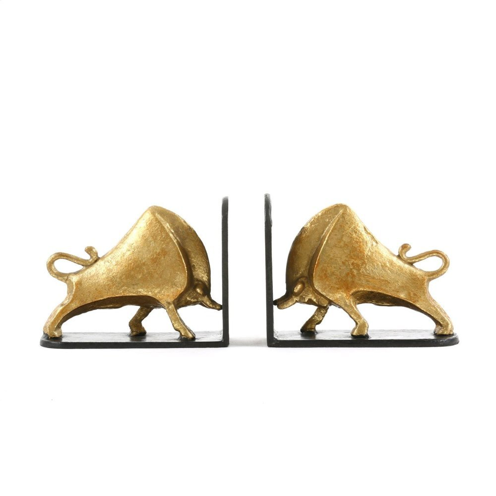 Bisoni Bookends, Gold
