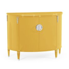 Demilune Peking Yellow Storage Cabinet