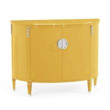 Demilune Peking Yellow Storage Cabinet