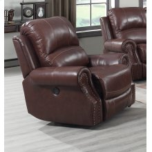 EM1193 Collection - Recliner with Power Headrest  USB Cognac Brown