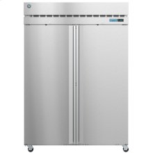 F2A-FS, Freezer, Two Section Upright, Full Stainless Doors with Lock