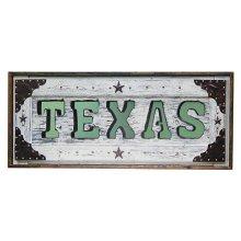 White Texas Letter Mirror